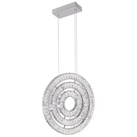 CWI Lighting 1046P20-3-601 Celina LED 20 inch Chrome Down Chandelier Ceiling Light