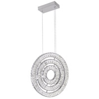 CWI Lighting 1046P20-3-601 Celina LED 20 inch Chrome Chandelier Ceiling Light