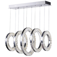CWI Lighting 1046P26-5-601-RC Celina LED 16 inch Chrome Chandelier Ceiling Light