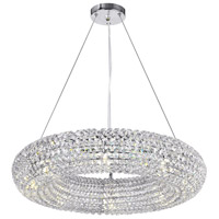 CWI Lighting 1057P24-8-601 Veronique 8 Light 24 inch Chrome Chandelier Ceiling Light