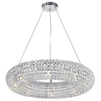 CWI Lighting 1057P24-8-601 Veronique 8 Light 24 inch Chrome Down Chandelier Ceiling Light