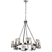 CWI Lighting 1061P28-8-601 Emmanuella LED 28 inch Chrome Chandelier Ceiling Light