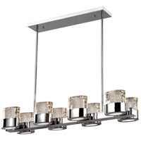 CWI Lighting 1061P34-8-601-RC Emmanuella LED 34 inch Chrome Island Chandelier Ceiling Light