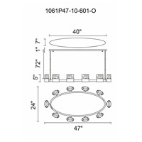 Emmanuella LED 47 inch Chrome Island Chandelier Ceiling Light