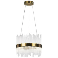 CWI Lighting 1063P16-605 Genevieve LED 16 inch Antique Brass Chandelier Ceiling Light