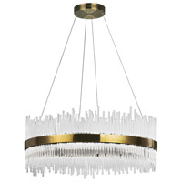 CWI Lighting 1063P32-605 Genevieve LED 32 inch Antique Brass Chandelier Ceiling Light