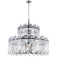 CWI Lighting 1065P28-12-601 Henrietta 12 Light 28 inch Chrome Chandelier Ceiling Light