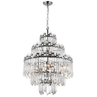 CWI Lighting 1065P28-15-601 Henrietta 15 Light 28 inch Chrome Chandelier Ceiling Light
