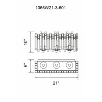 CWI Lighting 1065W21-3-601 Henrietta 3 Light 21 inch Chrome Wall Light
