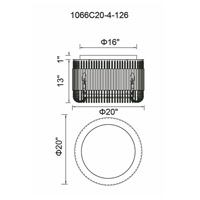 CWI Lighting 1066C20-4-126 Francessca 4 Light 20 inch Chocolate Drum Shade Flush Mount Ceiling Light