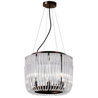 CWI Lighting 1066P16-3-126 Francessca 3 Light 16 inch Chocolate Drum Shade Chandelier Ceiling Light