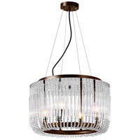 CWI Lighting 1066P20-4-126 Francessca 4 Light 20 inch Chocolate Drum Shade Chandelier Ceiling Light