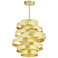 CWI Lighting 1068P10-1-620 Elizabetta 1 Light 10 inch Gold Leaf Pendant Ceiling Light