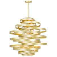 CWI Lighting 1068P45-16-620 Elizabetta 16 Light 45 inch Gold Leaf Chandelier Ceiling Light