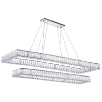 CWI Lighting 1084P52-601-RC-2C Felicity LED 52 inch Chrome Pool Island Light Ceiling Light