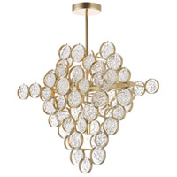CWI Lighting 1087P20-7-620 Anastasia 7 Light 12 inch Gold Leaf Chandelier Ceiling Light