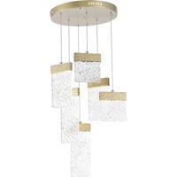 CWI Lighting 1090P16-6-620 Carolina LED 16 inch Gold Leaf Down Chandelier Ceiling Light