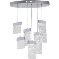CWI Lighting 1090P24-6-269-O Carolina LED 24 inch Pewter Chandelier Ceiling Light