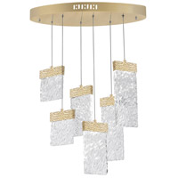 CWI Lighting 1090P24-6-620-O Carolina LED 10 inch Gold Leaf Chandelier Ceiling Light