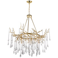 CWI Lighting 1094P43-12-620 Anita 12 Light 43 inch Gold Leaf Chandelier Ceiling Light