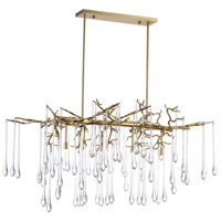 CWI Lighting 1094P47-10-620 Anita 10 Light 26 inch Gold Leaf Down Chandelier Ceiling Light