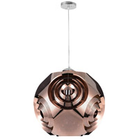 CWI Lighting 1098P10-1-267 Kingsley 1 Light 10 inch Copper Mini Pendant Ceiling Light