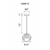 Kingsley 1 Light 15 inch Copper Pendant Ceiling Light