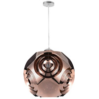 CWI Lighting 1098P19-1-267 Kingsley 1 Light 19 inch Copper Chandelier Ceiling Light