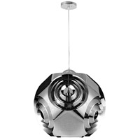 CWI Lighting 1098P19-1-601 Kingsley 1 Light 19 inch Chrome Chandelier Ceiling Light