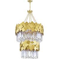 CWI Lighting 1100P24-10-169 Panache 10 Light 24 inch Medallion Gold Down Chandelier Ceiling Light