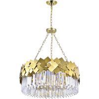 CWI Lighting 1100P32-8-169 Panache 8 Light 32 inch Medallion Gold Down Chandelier Ceiling Light