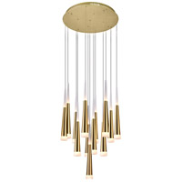 CWI Lighting 1103P20-13-619 Andes 20 inch Gold Leaf Multi Light Pendant Ceiling Light