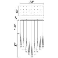 CWI Lighting 1103P38-36-619 Andes 15 inch Gold Leaf Multi Light Pendant Ceiling Light