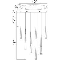 CWI Lighting 1103P40-10-619 Andes 8 inch Gold Leaf Multi Light Pendant Ceiling Light