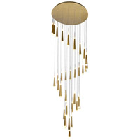 CWI Lighting 1103P40-36-619 Andes 40 inch Gold Leaf Multi Light Pendant Ceiling Light