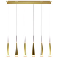 CWI Lighting 1103P40-6-619 Andes 18 inch 30.00 watt Gold Leaf Pool Table Light Portable Light