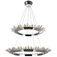 CWI Lighting 1108P32-2-613 Arctic Queen 32 inch Polished Nickel Up Chandelier Ceiling Light