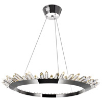 CWI Lighting 1108P32-613 Arctic Queen 32 inch Polished Nickel Up Chandelier Ceiling Light