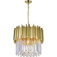 CWI Lighting 1112P16-4-169 Deco 4 Light 16 inch Medallion Gold Down Chandelier Ceiling Light