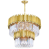 CWI Lighting 1112P32-12-169 Deco 12 Light 32 inch Medallion Gold Down Chandelier Ceiling Light