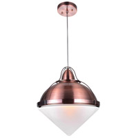 CWI Lighting 1124P14-1-622 Cupola 1 Light 14 inch Copper Down Pendant Ceiling Light