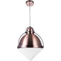 CWI Lighting 1124P9-1-622 Cupola 1 Light 9 inch Copper Down Mini Pendant Ceiling Light