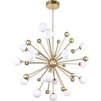 CWI Lighting 1125P39-17-268 Element 17 Light 39 inch Sun Gold Chandelier Ceiling Light