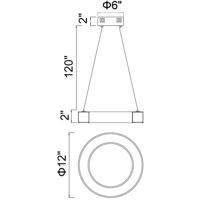 CWI Lighting 1131P12-613 Ringer 12 inch Polished Nickel Mini Chandelier Ceiling Light