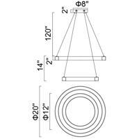 CWI Lighting 1131P20-2-613 Ringer 20 inch Polished Nickel Chandelier Ceiling Light