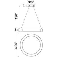 CWI Lighting 1131P20-613 Ringer 20 inch Polished Nickel Chandelier Ceiling Light