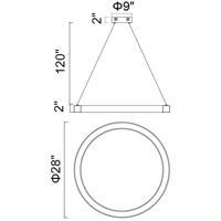 CWI Lighting 1131P28-613 Ringer 28 inch Polished Nickel Chandelier Ceiling Light