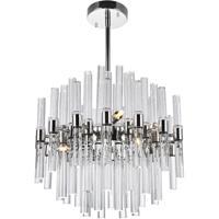 CWI Lighting 1137P16-8-613 Miroir 8 Light 16 inch Polished Nickel Chandelier Ceiling Light
