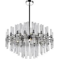 CWI Lighting 1137P26-10-613 Miroir 10 Light 26 inch Polished Nickel Chandelier Ceiling Light