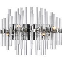 CWI Lighting 1137W18-4-613 Miroir 4 Light 18 inch Polished Nickel Vanity Light Wall Light